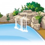 Proyecto cascada roca decorativa