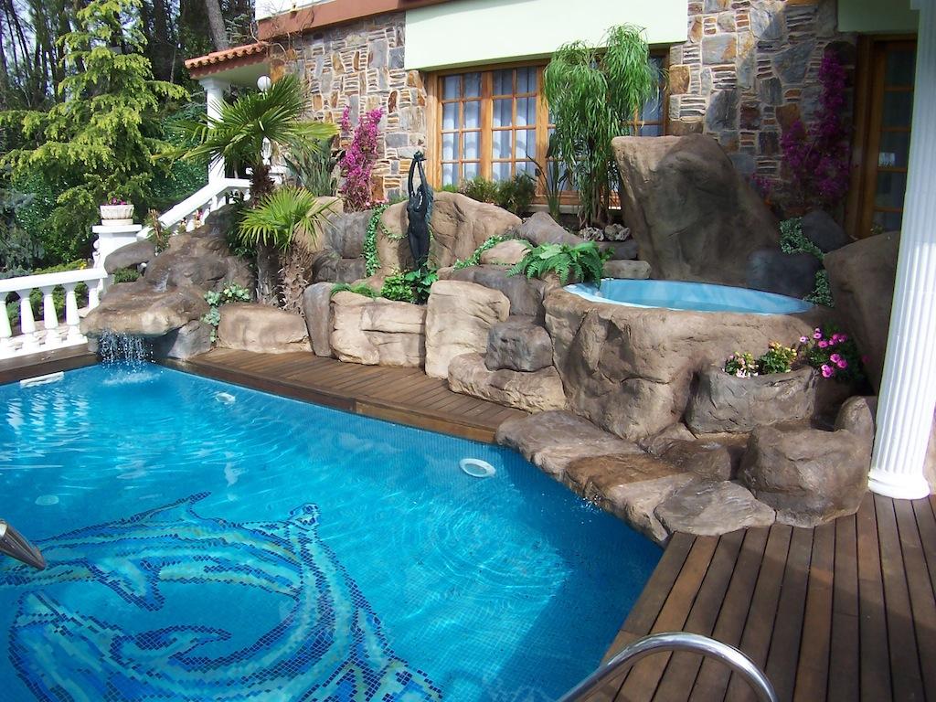 Roca decorativa piscines dome - Decoracion de casas antes y despues ...